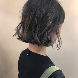 大人かわいい ボブ ナチュラル デート ヘアスタイルや髪型の写真・画像 ヘアスタイルや髪型の写真・画像