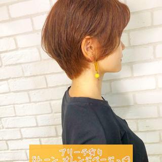 ショートヘア ブリーチカラー ショートボブ ショート ヘアスタイルや髪型の写真・画像