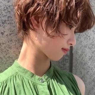 似合わせカット PEEK-A-BOO ハンサムショート ガーリー ヘアスタイルや髪型の写真・画像