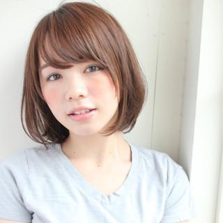 女子会 透明感 ボブ 小顔 ヘアスタイルや髪型の写真・画像