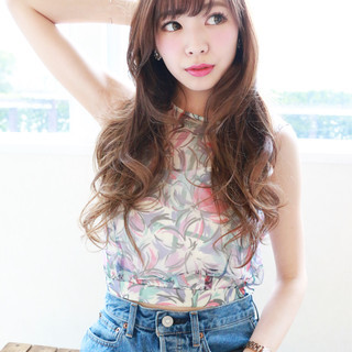 フェミニン グラデーションカラー 外国人風 大人かわいい ヘアスタイルや髪型の写真・画像