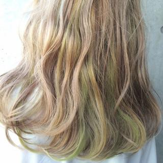 グラデーションカラー 外国人風 ストリート アッシュ ヘアスタイルや髪型の写真・画像