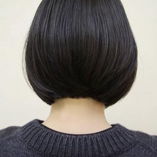 大人かわいい 黒髪 大人女子 ボブ ヘアスタイルや髪型の写真・画像