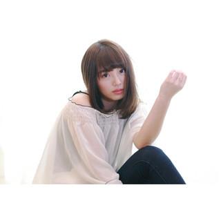 愛され モテ髪 フェミニン ストレート ヘアスタイルや髪型の写真・画像