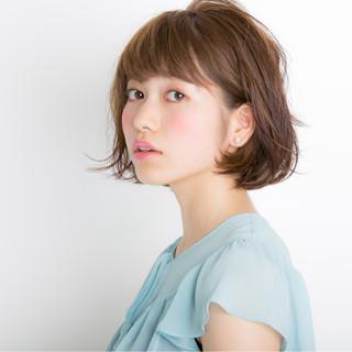 大人かわいい ミディアム 外国人風 ナチュラル ヘアスタイルや髪型の写真・画像