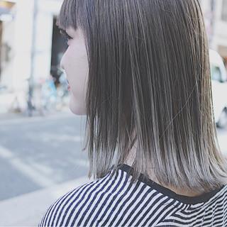 外国人風 イルミナカラー ボブ 3Dカラー ヘアスタイルや髪型の写真・画像