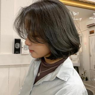 韓国 ボブ ナチュラル 韓国ヘア ヘアスタイルや髪型の写真・画像