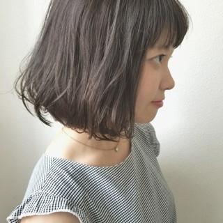 デート ウェーブ 透明感 秋 ヘアスタイルや髪型の写真・画像