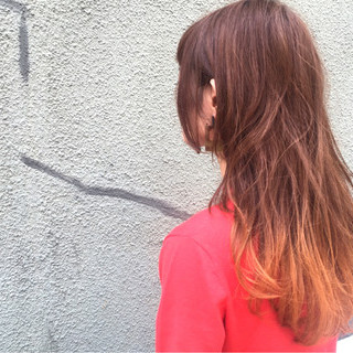 ブリーチ ダブルカラー ストリート イエロー ヘアスタイルや髪型の写真・画像
