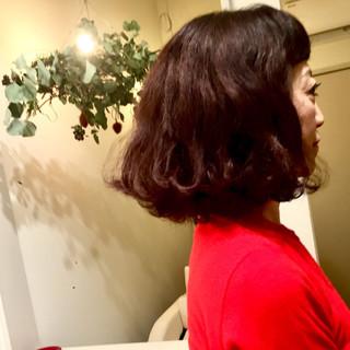 ブラウン 外ハネ モード ボブ ヘアスタイルや髪型の写真・画像