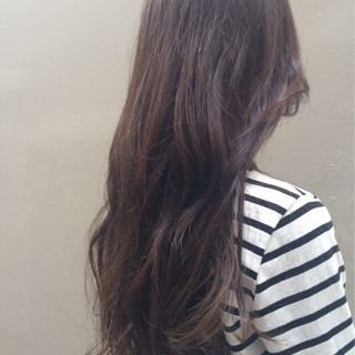 グラデーションカラー グレージュ コンサバ ロング ヘアスタイルや髪型の写真・画像