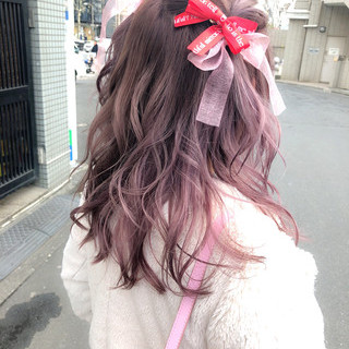 ミディアム ガーリー バレンタイン 謝恩会 ヘアスタイルや髪型の写真・画像