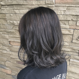透明感 ハイライト 秋 外国人風 ヘアスタイルや髪型の写真・画像