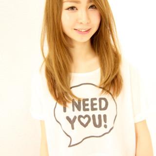 ストレート ガーリー 渋谷系 ロング ヘアスタイルや髪型の写真・画像