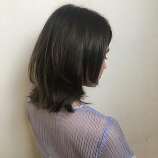 小顔 ミディアム 大人かわいい ナチュラル ヘアスタイルや髪型の写真・画像