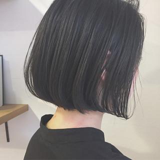 黒髪 切りっぱなし ボブ アッシュ ヘアスタイルや髪型の写真・画像 ヘアスタイルや髪型の写真・画像