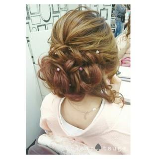 外国人風 大人かわいい ヘアアレンジ ロング ヘアスタイルや髪型の写真・画像