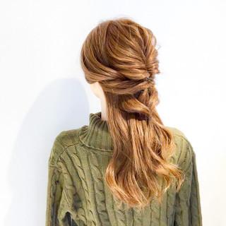 ショート ロング 簡単ヘアアレンジ オフィス ヘアスタイルや髪型の写真・画像