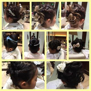 ミディアム ヘアアレンジ ディズニー ナチュラル ヘアスタイルや髪型の写真・画像