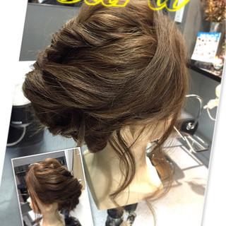 アップスタイル ロング 二次会 結婚式 ヘアスタイルや髪型の写真・画像