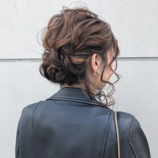 結婚式 デート 簡単ヘアアレンジ 成人式 ヘアスタイルや髪型の写真・画像 ヘアスタイルや髪型の写真・画像