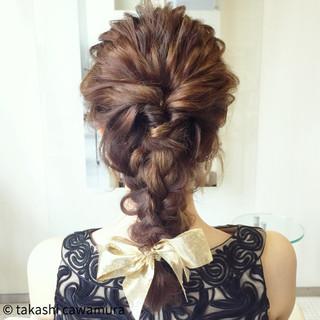 編み込み ヘアアレンジ ロング ヘアスタイルや髪型の写真・画像