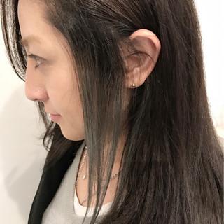 ハイライト フェミニン セミロング インナーカラー ヘアスタイルや髪型の写真・画像 ヘアスタイルや髪型の写真・画像