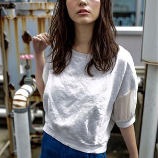 暗髪 パーマ グラデーションカラー 外国人風 ヘアスタイルや髪型の写真・画像