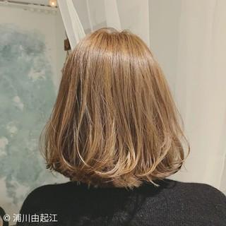 ボブ グラデーションカラー 大人かわいい ゆるふわ ヘアスタイルや髪型の写真・画像
