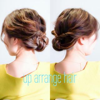 卒業式 くるりんぱ ヘアアレンジ ロング ヘアスタイルや髪型の写真・画像 ヘアスタイルや髪型の写真・画像