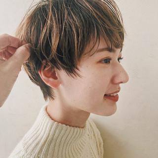 切りっぱなしボブ ショートヘア ショートボブ ミニボブ ヘアスタイルや髪型の写真・画像