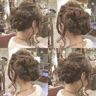外国人風 セミロング 簡単ヘアアレンジ ハイライト ヘアスタイルや髪型の写真・画像