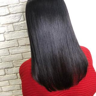 黒髪 ナチュラル サイエンスアクア オフィス ヘアスタイルや髪型の写真・画像 ヘアスタイルや髪型の写真・画像