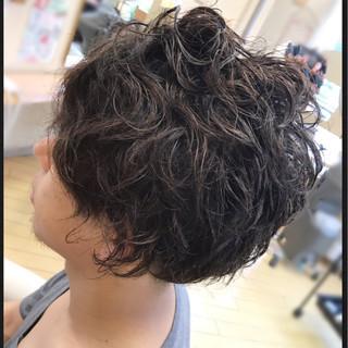モテ髪 3Dカラー アシメバング パーマ ヘアスタイルや髪型の写真・画像