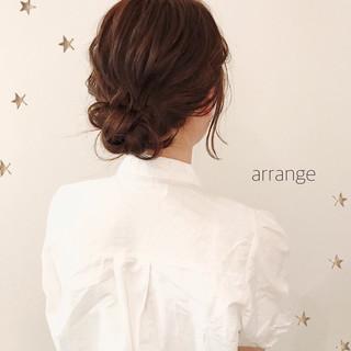 ヘアアレンジ デート ナチュラル 簡単ヘアアレンジ ヘアスタイルや髪型の写真・画像