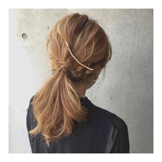 大人かわいい グラデーションカラー ショート 簡単ヘアアレンジ ヘアスタイルや髪型の写真・画像