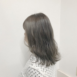 セミロング ストリート ヘアアレンジ 前髪あり ヘアスタイルや髪型の写真・画像
