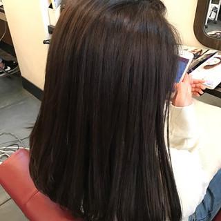 ショコラブラウン 暗髪 ナチュラル 冬 ヘアスタイルや髪型の写真・画像