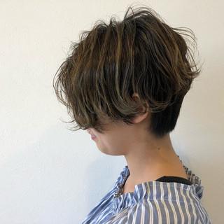 モード ショート ハイライト イルミナカラー ヘアスタイルや髪型の写真・画像