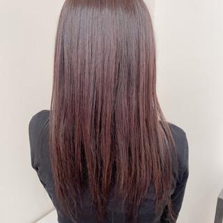 ロング オリーブカラー オリーブグレージュ オリーブベージュ ヘアスタイルや髪型の写真・画像