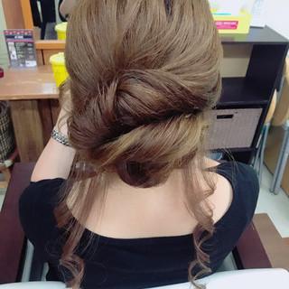 ヘアアレンジ ロング 上品 おフェロ ヘアスタイルや髪型の写真・画像