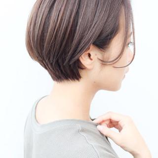 横顔美人 コンサバ ショート 大人かわいい ヘアスタイルや髪型の写真・画像