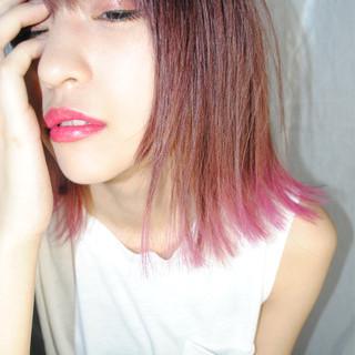 外国人風 ガーリー レッド 色気 ヘアスタイルや髪型の写真・画像