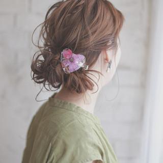 簡単ヘアアレンジ セミロング パーティ ヘアアレンジ ヘアスタイルや髪型の写真・画像 ヘアスタイルや髪型の写真・画像