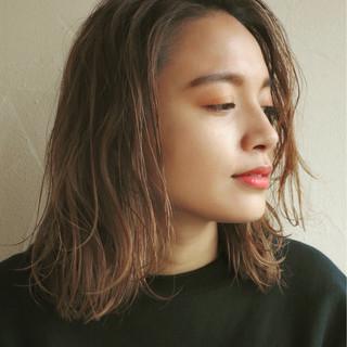 ボブ ミディアム ハイライト パーマ ヘアスタイルや髪型の写真・画像 ヘアスタイルや髪型の写真・画像
