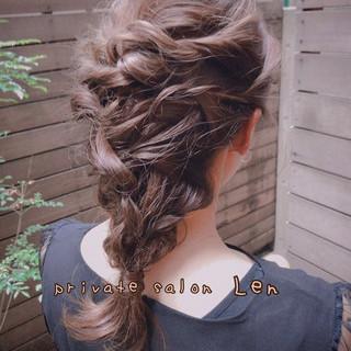 簡単ヘアアレンジ  デート モテ髪 ヘアスタイルや髪型の写真・画像