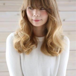 ハイライト ゆるふわ 大人かわいい ロング ヘアスタイルや髪型の写真・画像