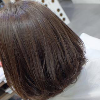 ミディアム オフィス 秋 リラックス ヘアスタイルや髪型の写真・画像
