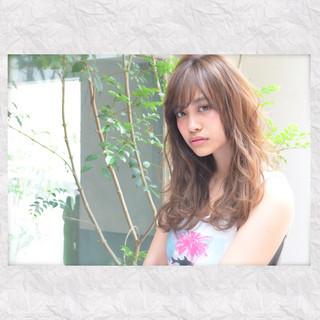 ハイライト ガーリー 外国人風 フェミニン ヘアスタイルや髪型の写真・画像