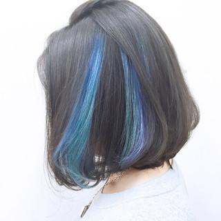グラデーションカラー 暗髪 ボブ 黒髪 ヘアスタイルや髪型の写真・画像 ヘアスタイルや髪型の写真・画像